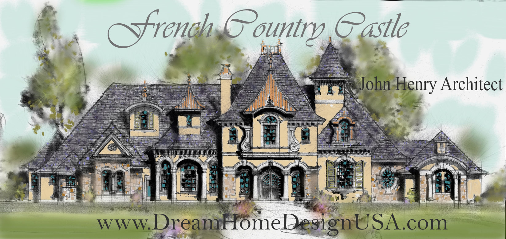 Florida luxury home architect john henry architect for One of a kind house plans